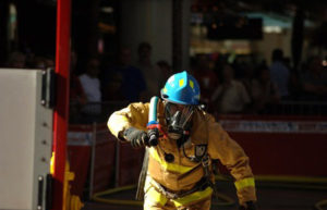 Fireman using cross-training for functional job strength