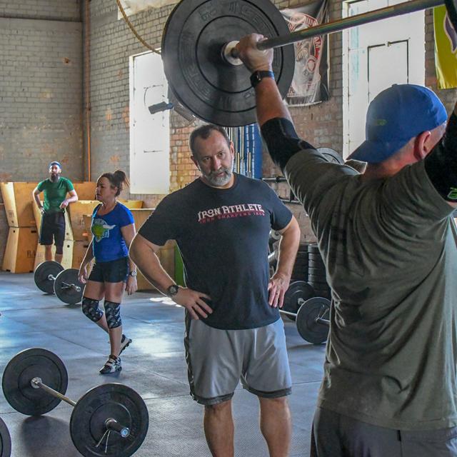 Coaching olympic weight lifting training